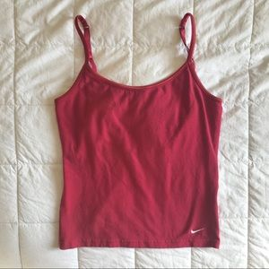 Nike - Red cami with embroidered swoosh logo Sz S